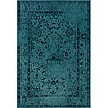 Teal/ Grey Transitional Area Rug (9'10 x 12'10)