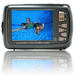 Aqua 5500 Black (with Micro 16GB) 18MP Dual Screen Waterproof Digital Camera