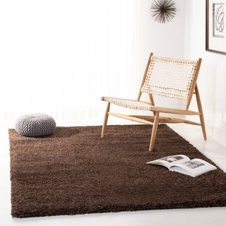 Safavieh Cozy Solid Brown Shag Rug (11' x 15')