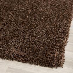Safavieh California Cozy Solid Brown Shag Rug (2'3 x 11')