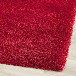 Cozy Solid Red Shag Rug (9'6 x 13')