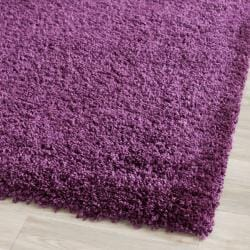 Cozy Solid Purple Shag Rug (11' x 15')