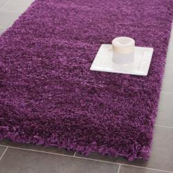 Safavieh Cozy Solid Purple Shag Rug (2'3 x 9')