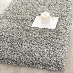 Safavieh Cozy Solid Silver Shag Rug (2'3 x 11')