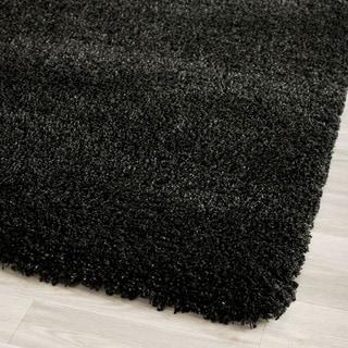 Safavieh California Cozy Solid Black Shag Rug (2'3 x 11')