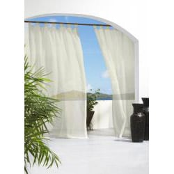 Escape Tab Top Indoor/Outdoor 84 inch Voile Curtain Panel Pair