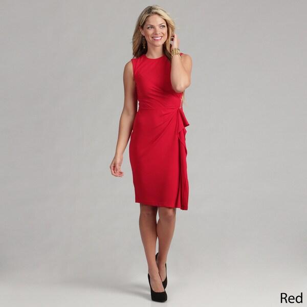 Calvin Klein Women's Matte Jersey Draped Dress FINAL SALE
