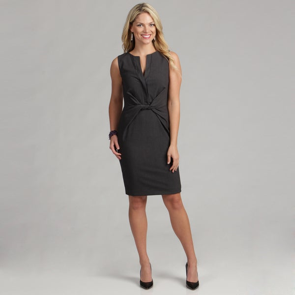 Calvin Klein Women's Sleeveless Twist Waist Luxe Dress