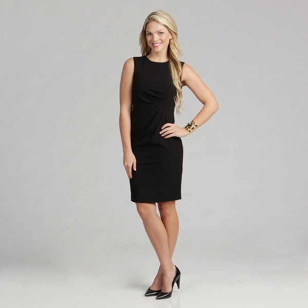 Calvin Klein Women's Black Sleeveless Luxe Dress FINAL SALE