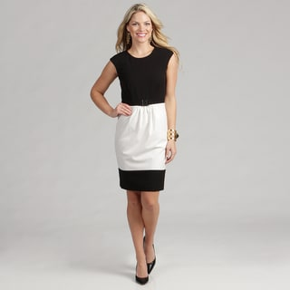 Calvin Klein Women's Colorblock Luxe Dress