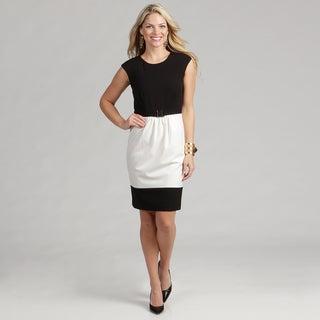 Calvin Klein Women's Colorblock Luxe Dress