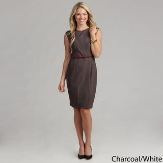 Calvin Klein Women's Striped Belted Dress FINAL SALE
