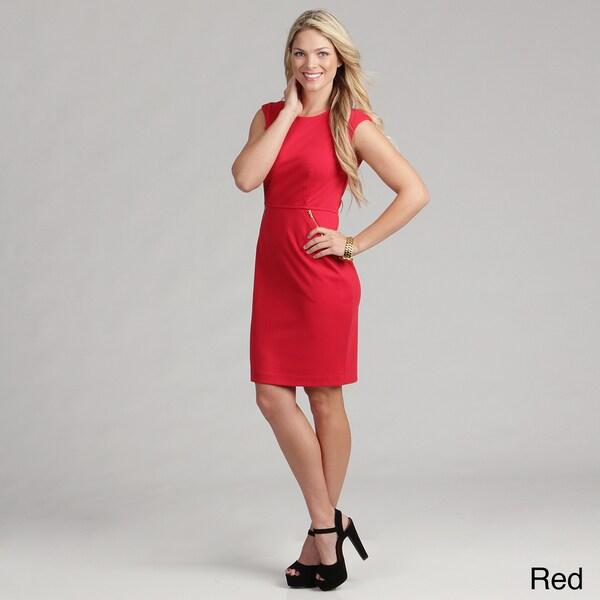 Calvin Klein Women's Zipper Pocket Ponte Dress FINAL SALE