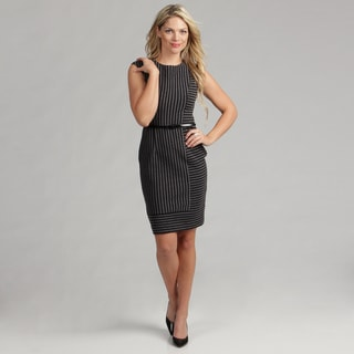 Calvin Klein Women's Striped Ponte Dress  FINAL SALE