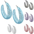 Colored Acrylic Sequin Semi-hoop Earrings