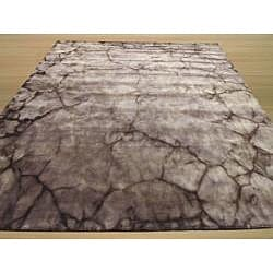 EORC Handmade Wool Brown Dip Dyed Rug (8' x 10')