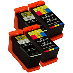 Sophia Global Dell 21 Compatible Black and Color Ink Cartridges (Pack of 4)