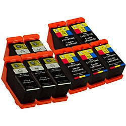 Sophia Global Dell 21 Compatible Black and Color Ink Cartridges (Pack of 10)
