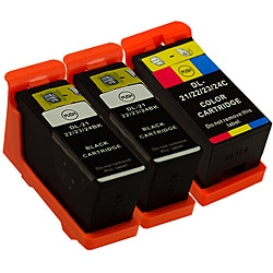 Sophia Global Dell 21 Compatible Black and Color Ink Cartridges (Pack of 3)