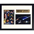 Vulcan Salute 'Live Long and Prosper' Spock Collectible Framed Stamps and Photo from Star Trek
