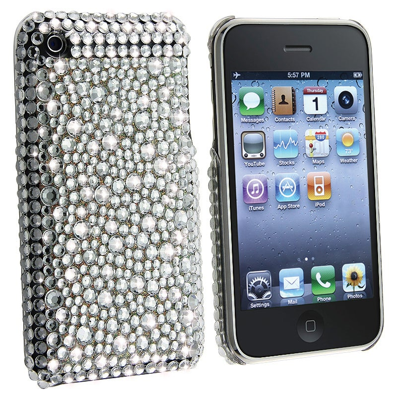 BasAcc Silver Diamond Snap-on Case for Apple iPhone 3G/ 3GS