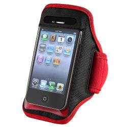 BasAcc Red/ Black Armband for Apple iPhone 4S/ 3GS