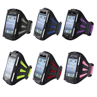 INSTEN Black/ Silver Armband for Apple iPhone 4S/ 3GS/ iPod touch