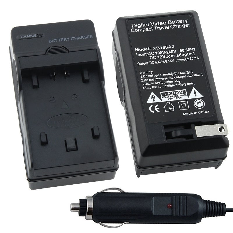 INSTEN Compact Battery Charger Set for Sony NP-FP50/ 70/ 90/ NP-FH50