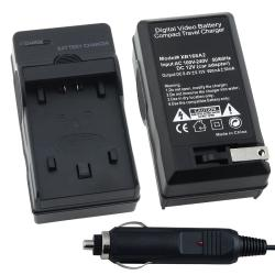 BasAcc Compact Battery Charger Set for Sony NP-FP50/ 70/ 90/ NP-FH50