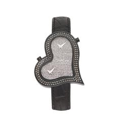 Joe Rodeo Women's Heart Dual-Time Water-Resistant Diamond Watch