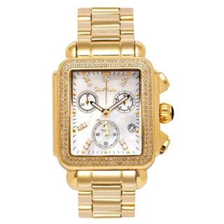 Joe Rodeo Women's Madison Goldtone Stainless Steel 1.50 ct Diamond Watch