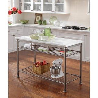 The Orleans Kitchen Island with Marble Top