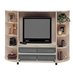 Champagne/ Brass 36-inch TV Entertainment Center