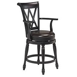 Home Styles Monarch Island with Granite Top Black/ Distressed Oak Finish and Bar Stools