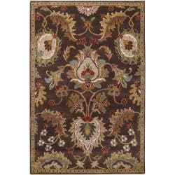 Hand-knotted Brown Appor Wool Rug (3'3 x 5'3)