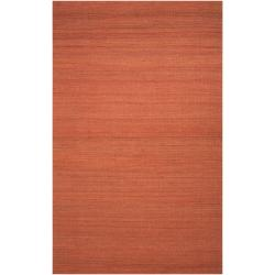 Hand-woven Orange Beringer Reversible Jute Rug Rug (5' x 8')