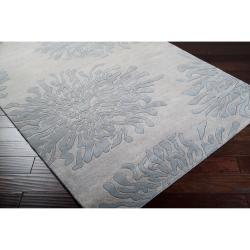 Hand-tufted Contemporary Grey Bostor New Zealand Wool Abstract Rug (3'3 x 5'3)