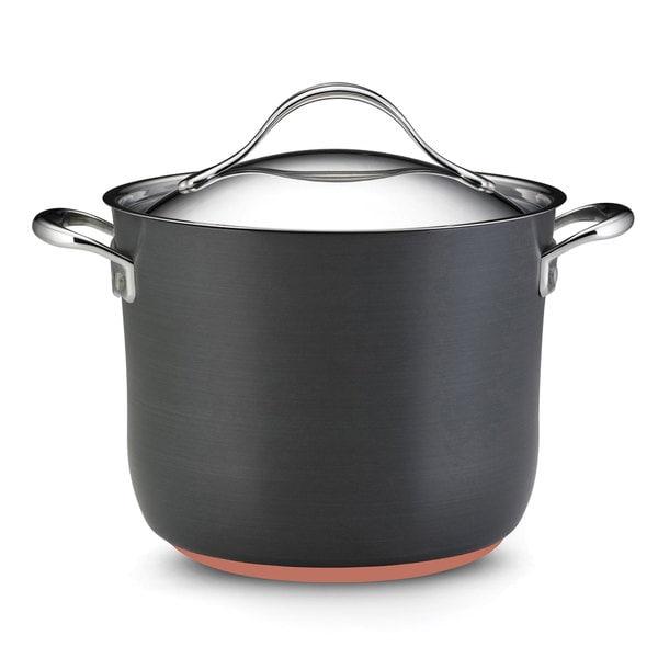 Anolon Nouvelle Copper Nonstick 8-quart Dark Grey Covered Stockpot