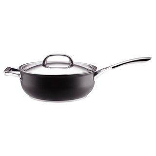 Circulon Infinite Hard Anodized Nonstick 6-quart Covered Chef Pan w/ Helper Handle, Grey
