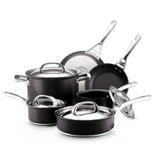 Circulon Infinite Hard Anodized Nonstick 10-piece Set, Black