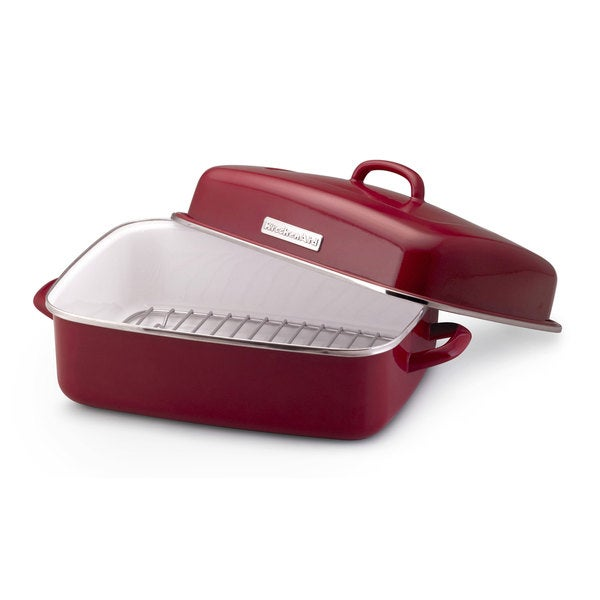 KitchenAid Red Dome Roaster with Rack and Lid