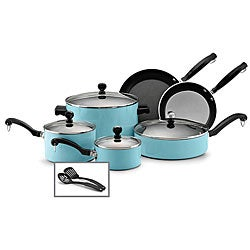 Farberware Classic Colors, 12-Piece Cookware Set, Turquoise