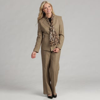 Le Suit Women's 3-button Pant Suit