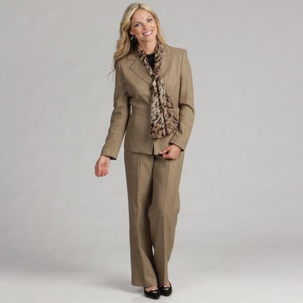 Le Suit Women's 3-button Pant Suit