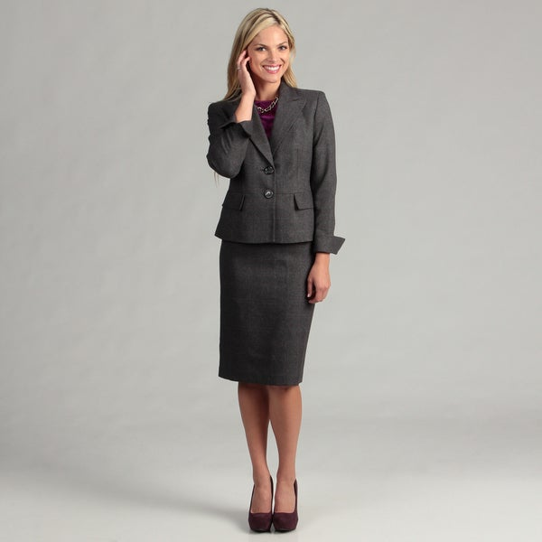Evan Picone Women's 2-button Notched Collar Skirt Suit