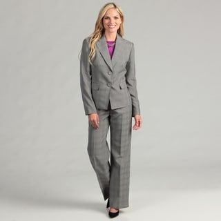 Evan Picone Women's 2-button Plaid Pant Suit