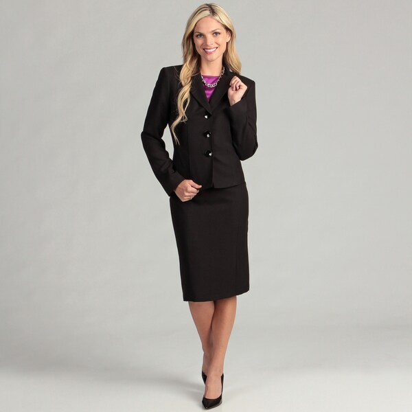 Evan Picone Women's 3-button Skirt Suit