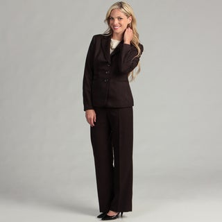 Evan Picone Women's 3-button Pinstriped Pant Suit