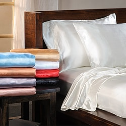 Luxury Satin Solid Queen-size Sheet Set