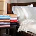 Luxury Satin Solid Full-size Sheet Set